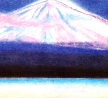 """DREAM OF """"EL TEIDE"""" WITH PINK CLOUD - THE HIGHEST MOUNTAIN OF SPAIN - Pastel-Design Sticker"""