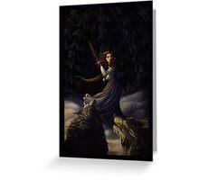La Belle et Les Loups Greeting Card