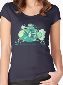 Walk with a friend Women's Fitted Scoop T-Shirt