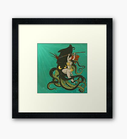 girl vs. nature Framed Print