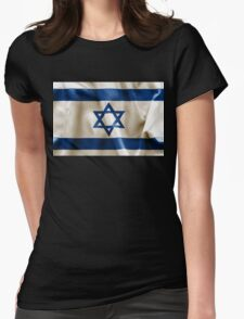 Israel Flag Womens Fitted T-Shirt
