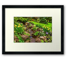 The Little Creek in the Garden - Impressions Of Spring Framed Print