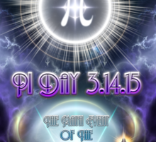 Ultimate Pi Day 3.14.15 Universal Enigma Sticker