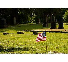 Memorial Flag 1 Photographic Print