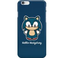 Hello Hedgehog (Sonic) iPhone Case/Skin