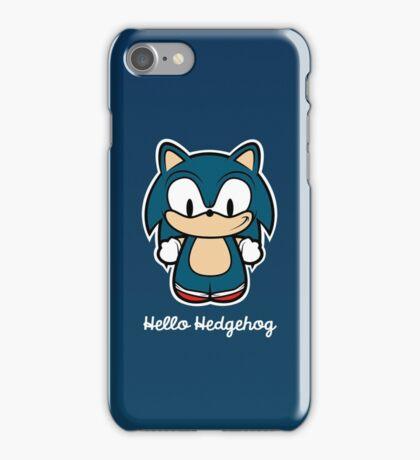 Hello Hedgehog (Sonic) iPhone Case/Skin