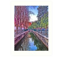 irrigation ditch in Vila-real, Valencia, Spain Art Print