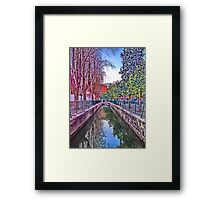 irrigation ditch in Vila-real, Valencia, Spain Framed Print