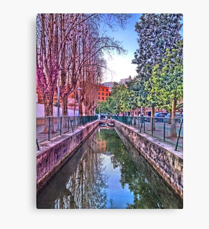 irrigation ditch in Vila-real, Valencia, Spain Canvas Print