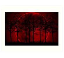 Blood Moon Rising Art Print