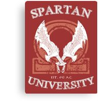 Spartan University (God of War) Canvas Print