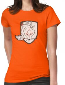 God Hound (without writing) Okami Womens Fitted T-Shirt