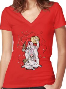 Hanagami - Okami Women's Fitted V-Neck T-Shirt