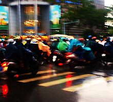 Rainbow Rush Hour In Ho Chi Minh City by DavidCThomson
