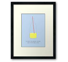 Bottled Memories Framed Print