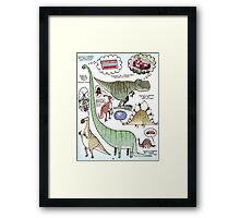 Dino Dreams Framed Print