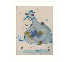 Commuter pigeon Art Print