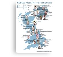 Serial Killers of Great Britain Canvas Print