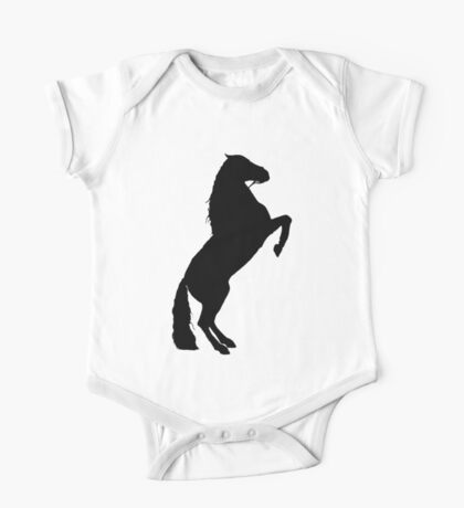 Andalusian Stallion Silhouette One Piece - Short Sleeve