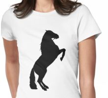 Andalusian Stallion Silhouette Womens Fitted T-Shirt