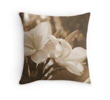 Frangapani Beauties Throw Pillow