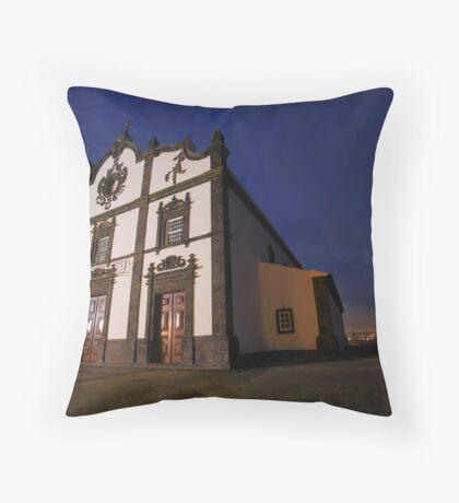 Sao Roque church, Azores Throw Pillow