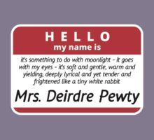 Hello! My name is Mrs. Deirdre Pewty Kids Clothes