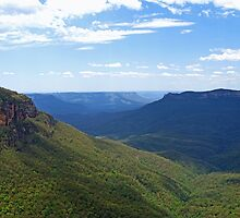 Elysian Rock Lookout - Blue Mountains by Marilyn Harris