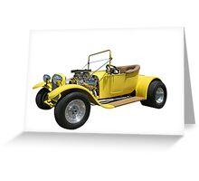 Yellow Hot Rod Greeting Card
