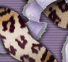Leopards'n Lace - Purple Sticker