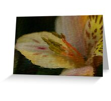 Flower In Ripples Greeting Card