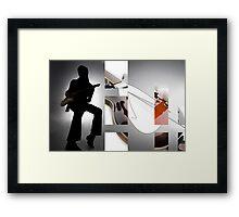 Guitar Rockstar Framed Print