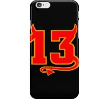 Lucky Devil 13  iPhone Case/Skin