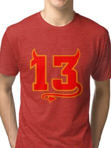 Lucky Devil 13  Tri-blend T-Shirt