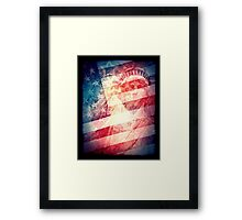 Patriotic Liberty Collage Framed Print