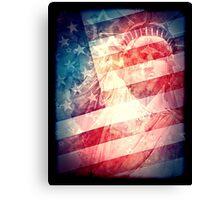 Patriotic Liberty Collage Canvas Print