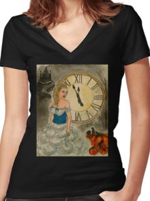 Almost Midnight Women's Fitted V-Neck T-Shirt