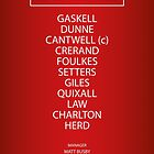 1963 Manchester United FA Cup Final Team by RED DAVID