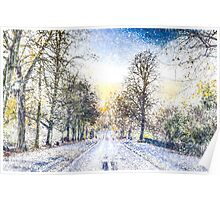 Greenwich Park London Art Poster