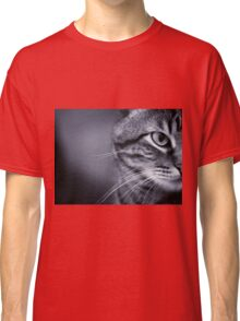 Portrait of cat in black and white Classic T-Shirt