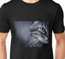 Portrait of cat in black and white Unisex T-Shirt