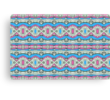 Aztec Style Pattern in Pastel Colors Canvas Print