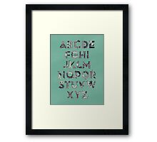 Steampunk Alphabet Framed Print