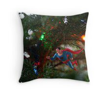 """Look up in the Tree.... It's Superman"" Throw Pillow"