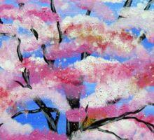 Sakura and snow Sticker