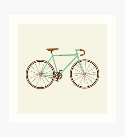 Green Fixie Art Print