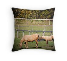 Horse in Filed Throw Pillow