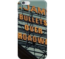St. James Theater - Bullets Over Broadway Musical Neon Sign - Kodachrome Postcards  iPhone Case/Skin