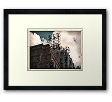 Hotel neon sign in Manhattan, NYC - Kodachrome Postcard  Framed Print