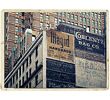 Handpainted mural advertisements of the 1940s in Manhattan, NYC - Kodachrome Postcard  Photographic Print